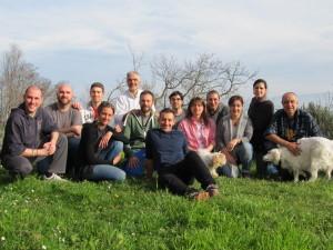 Foto di gruppo al corso di PermaTransition, Monteveglio Aprile 2014