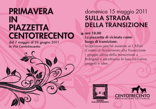 Sulla strada della Transizione - Via Centotrecento Bologna