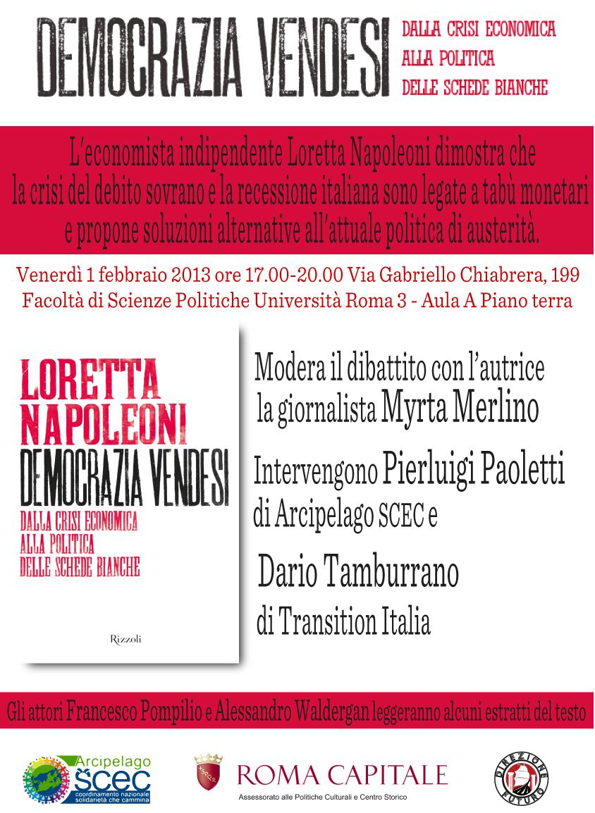 Locandina scienze politiche 1 febbraio 2013